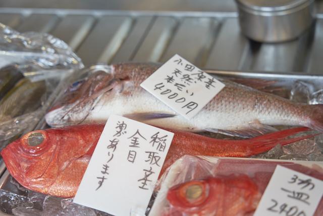 店頭のお魚