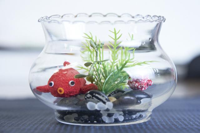 金魚鉢の小物